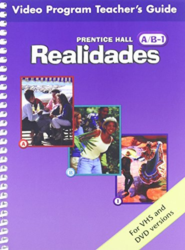 PRENTICE HALL SPANISH REALIDADES VIDEO PROGRAM DVD LEVEL A/B/1 FIRST EDITION 2004C