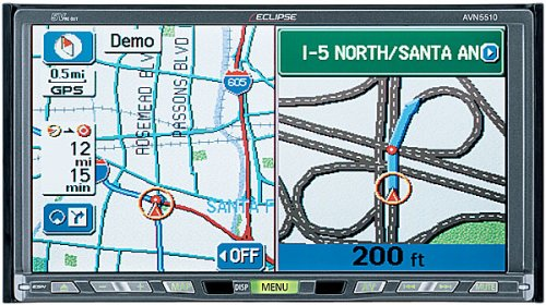 Eclipse AVN5510 In-dash DVD/CD receiver with DVD navigation