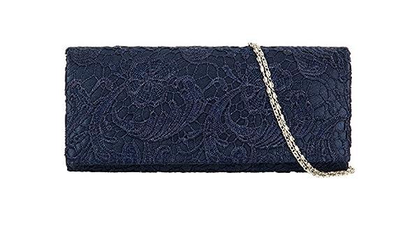 Accessorize-Me superposición de encaje NOCHE bolsa de embrague bolso de mano Wedding Carreras 09222 del prom 12 Color (azul marino): Amazon.es: Hogar