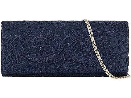 Accessorize-Me superposición de encaje NOCHE bolsa de embrague bolso de mano Wedding Carreras 09222