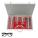 266Pcs Optical Trial Lens Set Metal Rim Optometry Kit Case Eye Protection Accessories Set with Free Test Trial Frame (US Shipping)