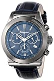 "Salvatore Ferragamo Men's F78LCQ6904 SB04 ""Salvatore Ferragamo 1898"" Gray Ion-Plated Stainless Steel and Blue Leather Watch, Watch Central"