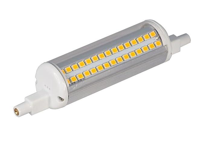 ECOBELLE® 1 x Bombilla LED R7S 12W 1380 Lúmenes, Color Blanco Cálido 3000K,