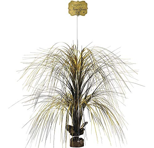 Giant Black, Gold & Silver New Year's Spray - Gold Spray Centerpiece
