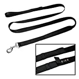 TugMutt DOG WHISTLE LEASH | A Leash with an Integrated Dog Whistle | Make your Dog Come to you Every Time | Training Guide Included | 2 Handle Leash (6 ft.)