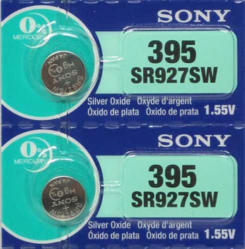 Sony 399/395 (SR927/W/SW) 1.55V Silver Oxide 0%Hg Mercury Free Watch Battery (2 Batteries)