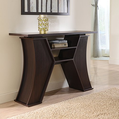 Furniture of America Manetta Way Espresso Sofa Table with Two Storage Center Shelves
