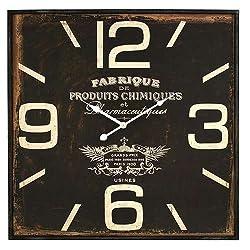 Aspire Adele Square Wall Clock, Brown