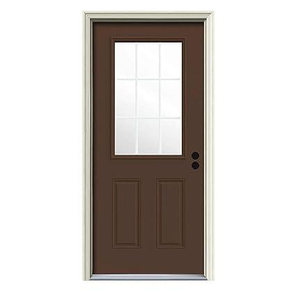 9 Lite Painted Steel Entry Door With Brickmould Amazon