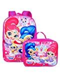 Nickelodeon Girl Shimmer And Shine 16'' Backpack With Detachable Matching Lunch Box