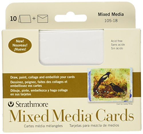 Strathmore Writing Stationery (Strathmore STR-105-18 Mixed Media Announcement Cards (10 Pack))