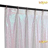 LQIAO Changed White Sequin Curtain Panel