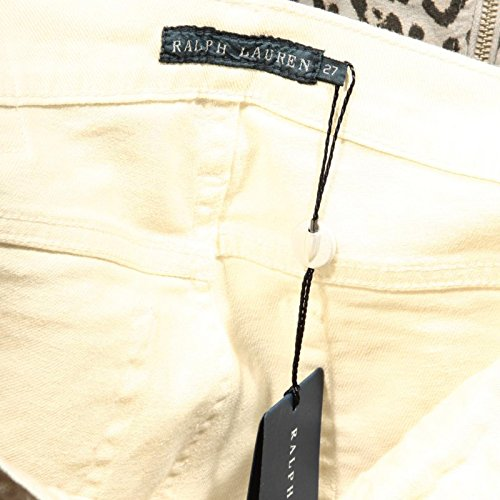 65746 65 Donna Pantaloni Panna Lauren Cropped Wash Ralph Women Skinny Trousers 45xTz6n