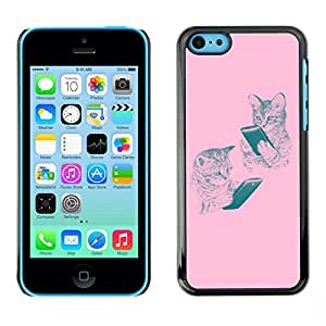 "For Apple iPhone 5C Case , Tiger Animal Rugido Bostezo Lengua Feroz"" - Diseño Patrón Teléfono Caso Cubierta Case Bumper Duro Protección Case Cover Funda"