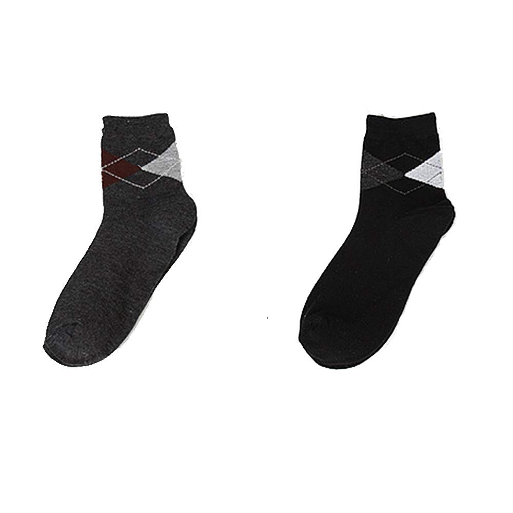YiKaSin Men's Socks (2 Pack) Comfortable, Everyday, Business socks,Athletic Socks,Sport Socks - Plain, Smart Design - Size 6-11