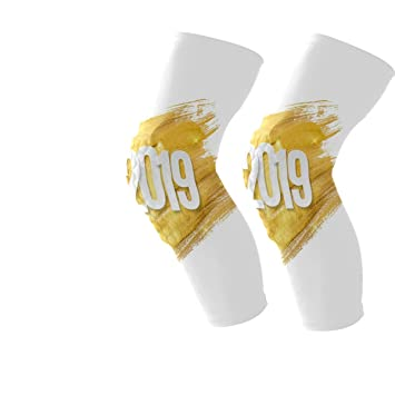Amazon Com 2019 Happy New Year Gold Knee Pads For Football All