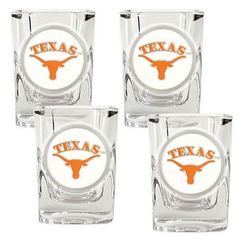 NCAA Texas Longhorns Four Piece Square Shot Glass - Glass Texas Shot Longhorns Square