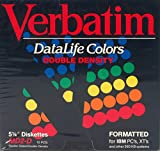 Verbatim DataLife Colors MD2-D Box of 10 5-1/4'' Diskettes IBM Formatted Double Sided Double Density for IBM PC's, XT's and other 360 KB Systems