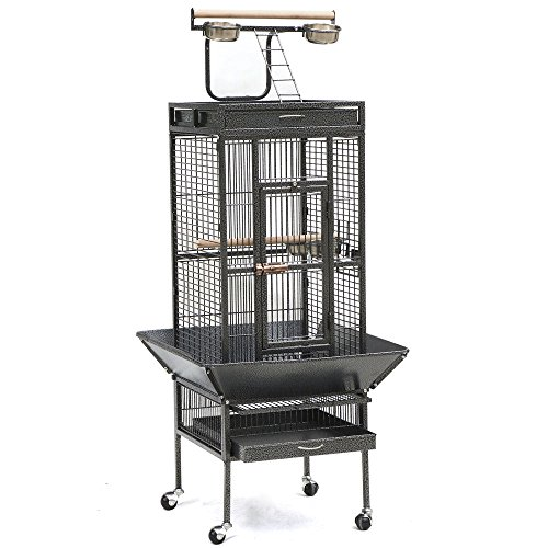 2016 Style Bird Cage Large Play Top Parrot Finch Cage Macaw Cockatoo Pet Supply (Philips Advent Starter Set compare prices)