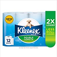KLEENEX Double Length Toilet Tissue, 12 Rolls