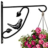 Hanging Plants Bracket 12in Wall Planter Hook Flower Pot Bird Feeder Hanger for Fence And Trees Wind Chime Lanterns Hanger Outdoor Indoor Patio Lawn Garden for Shelf Fence Screw Mount against Door Arm