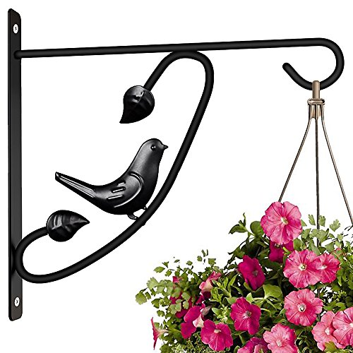 Hanging Plants Bracket 12'' Wall Planter Hook Flower Pot Bird Feeder Hanger for Fence And Trees Wind Chime Lanterns Hanger Outdoor Indoor Patio Lawn Garden for Shelf Fence Screw Mount against Door Arm - Light Indoor Wall Bracket