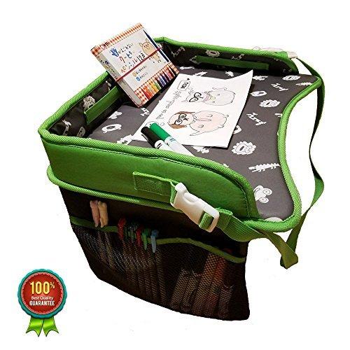 Orange KubePremium Children Portable Laptop Travel Tray with Side Pocket