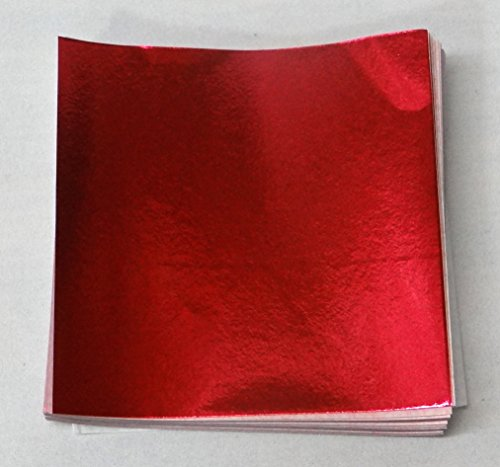 500 3'' X 3'' Red Confectionery Foil Wrappers Candy Wrappers Candy Making Supplies by Foil Wrappers
