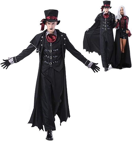 HUILI Parejas Disfraces de Halloween del Vampiro Adulto Fantasía ...