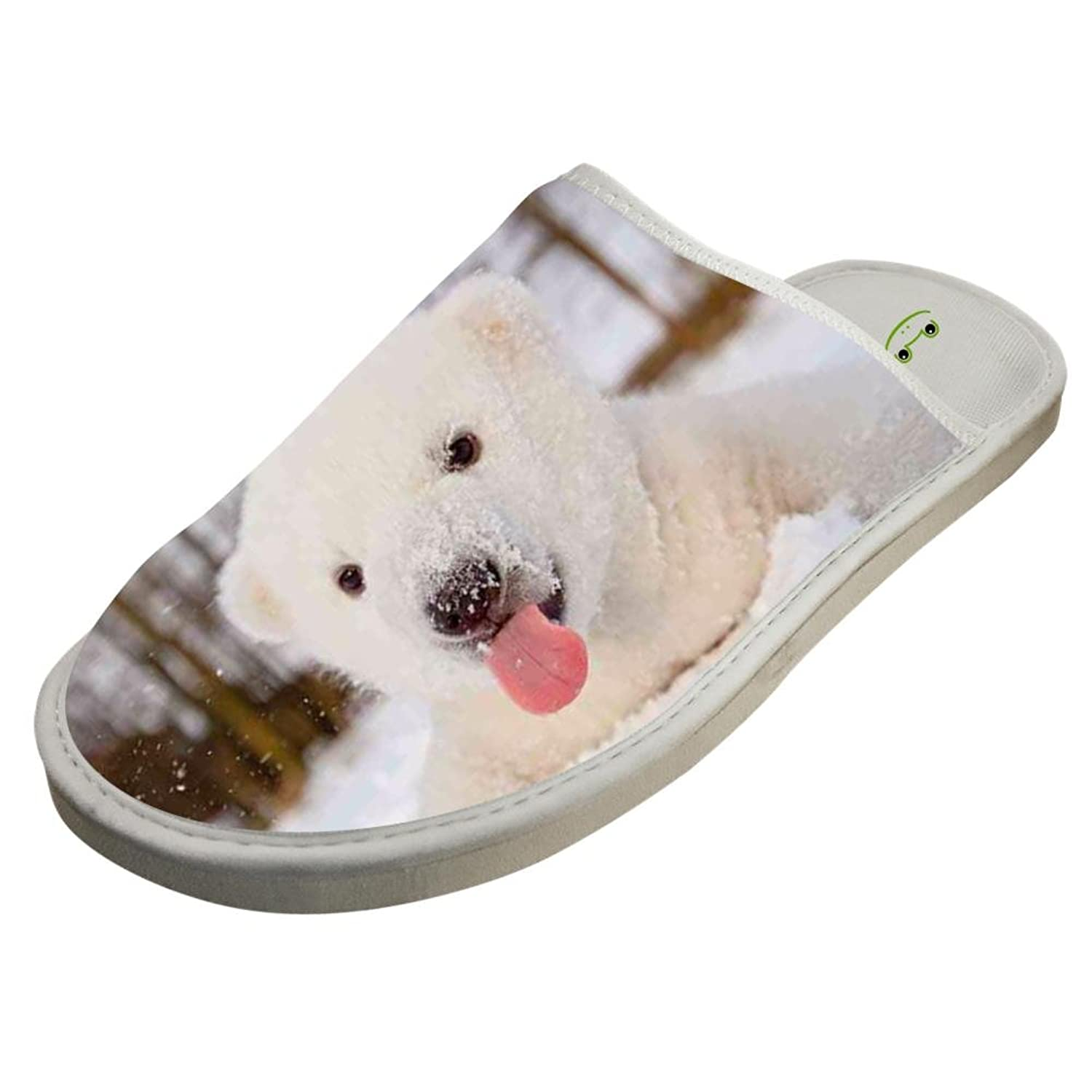 617b000197f Adorable Baby Polar Bear Adult Unisex Graphic Indoor Slippers for Women ()