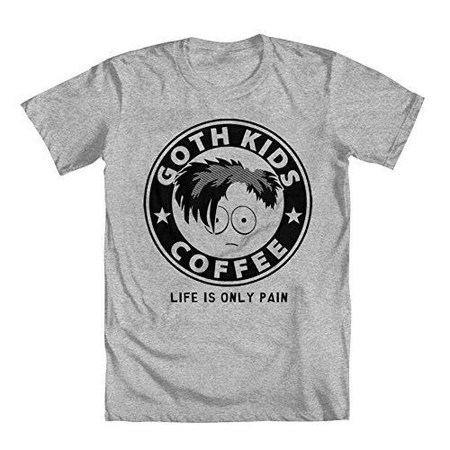 GEEK TEEZ South Park Inspired Goth Kids Coffee Men's T-Shirt