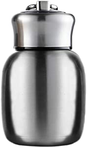 Mini 7 oz Stainless Steel Water Bottle, Small Vacuum Insulated Water Bottle Leak Proof Sport Tumbler Cup Hot and Cold Water Bottle for Women Girls Kids Gift Milk Tea Lunch (Silver)