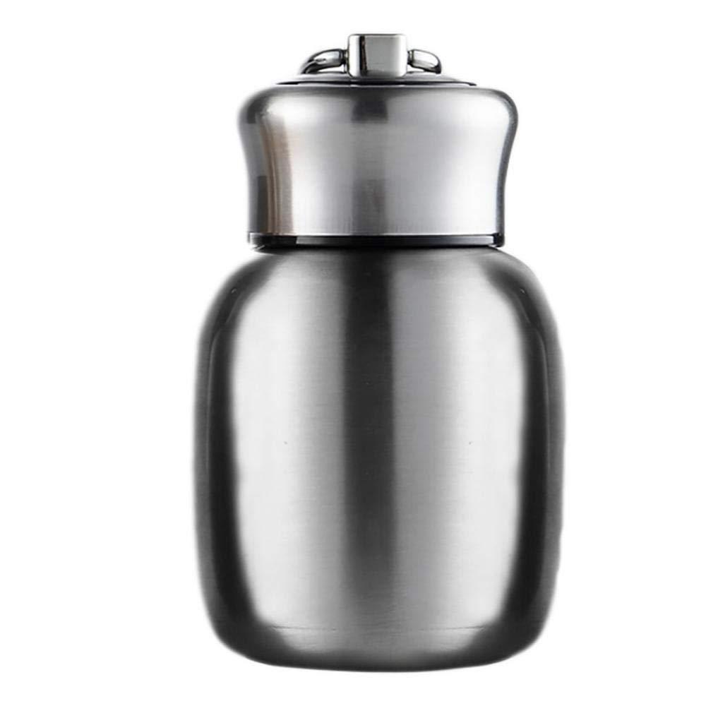 mini thermos con isolamento sottovuoto bottiglia per acqua calda e fredda 200 ml regalo per ragazze e ragazzi e adulti taglia unica Blue Piccola borraccia termica per succhi e latte