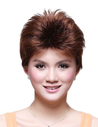 tapa corto peluca sintética grado superior Kanekalon recta japonesa