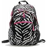 JanSport Wasabi Backpack, Black/White/Fluorescent Pink