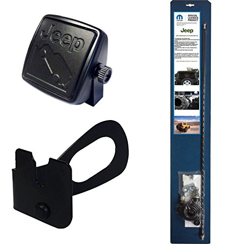 Mopar Jeep JK CB Radio Accessories Includes Antenna, Antenna Mount, 18' Coax, Speaker, and Grab Bar Mount for Model Years 2007 - Present