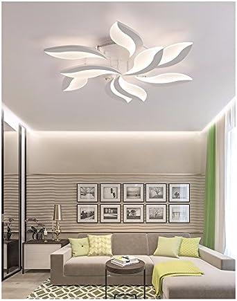 LPLFCeiling Modern simple lampara de salon de originalidad LED de luz de techo con turno estudio dormitorio9 buen 68W Iluminación de techo de interior