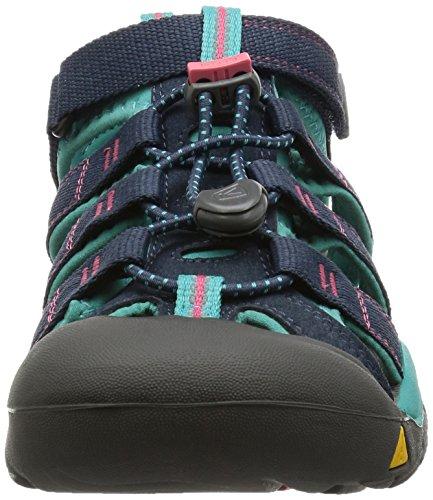 Keen Newport H2 Zapatillas de Senderismo, Unisex Niños Azul (Midnight Navy/Baltic)