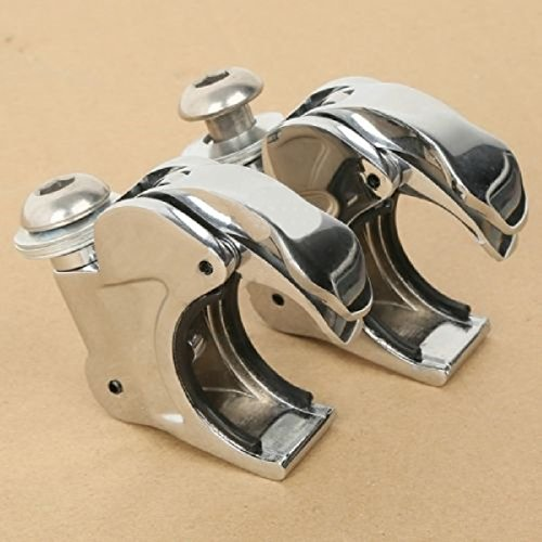 Chrome 41mm Windshield Clamps For Harley Dyna Wide Glide FXDWG FXST FXSTB FXSTC Drag Specialties Gas Caps