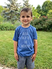 Alexa Skip To The Weekend, Kids Tri-blend T-Shirt, Boy's Tee, Comfortable Funny Gift, Shirts with Sayings,