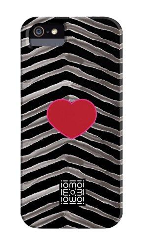 Case-Mate CMIMMCI5004024 iomoi 'Zebra Hearts' Schutzschale für iPhone 5, Barely There - Reihe