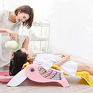 Baby Shampoo Chair Foldable Children's Shampoo Chair Extra Large Shampoo Artifact,Pink