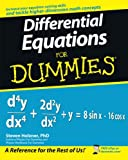 Differential Equations for Dummies, Steven Holzner, 0470178140