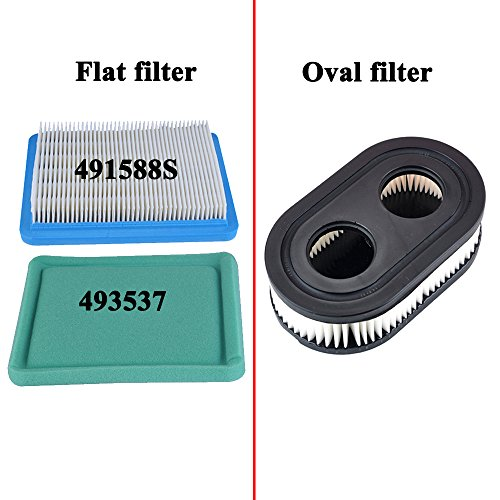 HIPA (Pack of 2) Oval Air Filter Cartridge for MTD Yard Machines Murray Craftsman Troy-Bilt TB110 TB115 TB200 TB230 TB330 TB370 Walk-Behind Lawn Mower