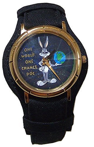 Bugs Bunny Watch Warner Bros. One World One Chance Doc Collectible Vintage WB-7703