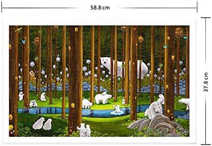 1000 PCS legpuzzels - Forest Secret, legpuzzels for Plastische, Educatief Intellectual Decompressing leuk spel for kinderen volwassenen (58,8 x 37,8 cm)