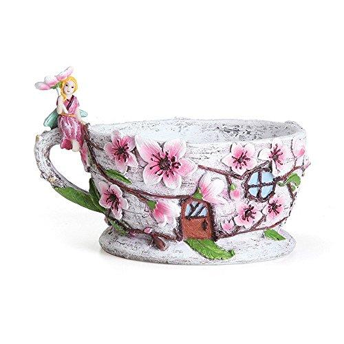 Georgetown Home and Garden Miniature Fairy Garden Cherry Blossom Teacup ()