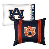 2pc NCAA Auburn Tigers Pillowcase and Pillow Sham Set College Team Logo Bedding Accessories