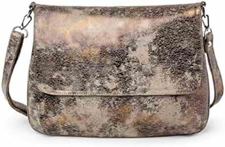 34f7ed09bd407c CoFi Crossbody Bags - Genuine Handmade Full Grain Leather Megan Mini  Messenger Purse, Unique Gold