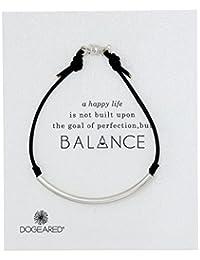 "Dogeared ""Balance"" Sterling Silver Black Bracelet"